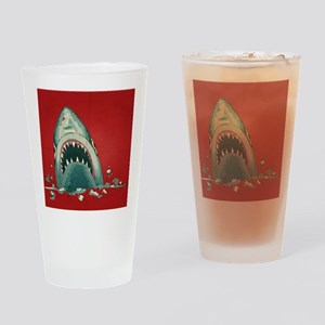 Shark Attack Drinking Glass